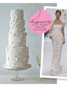 Elie Sabb Haute Coture Inspired Wedding Cake